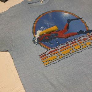 VINTAGE scuba graphic short sleeve tee shirt sz XL